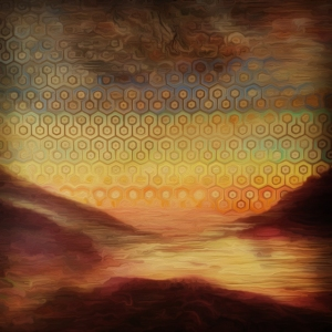 detail -sunrise landscape hexs oil